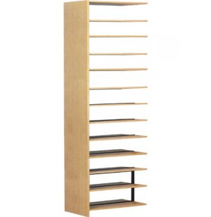 Double Faced Wood Library Shelving - 84