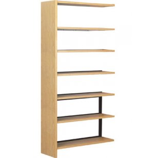 Single Faced Wood Library Shelving - 84