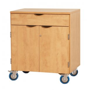 Mobile Storage Cabinet w/Doors 1 Shelf 1 Drawer