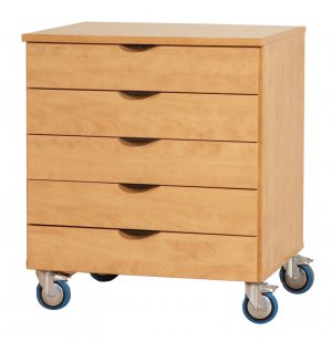 Mobile Storage Unit - 5 Drawers, 32
