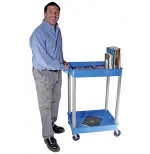 Colored Heavy Duty 2 Shelf AV Cart