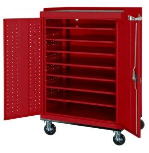 Mobile Laptop Charging & Storage Cart - 24-Capacity, Locking