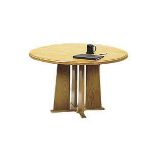 Solid Wood Tapered Base Round Table