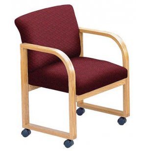 Contour Full Back Guest Chair - Grade 3 - Casters