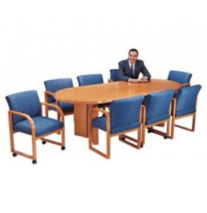 Solid Wood Racetrack Conference Table