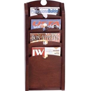 Traditional  4-Pocket Waterfall Magazine Rack