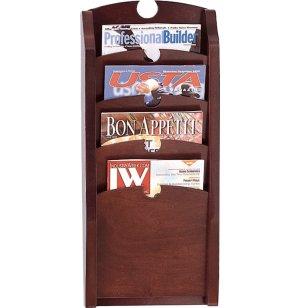 Traditional  4-Pocket Waterfall Magazine Rack