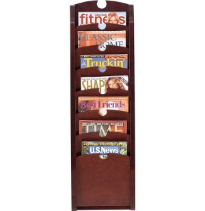 Traditional 7-Pocket Waterfall Magazine Rack