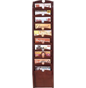Traditional 10-Pocket Waterfall Magazine Rack