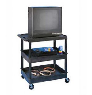 Heavy Duty 3 Shelf AV Cart