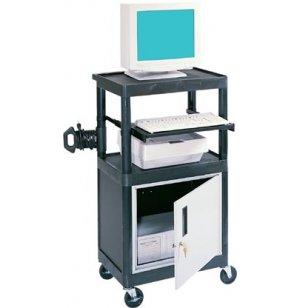 Stand Up Presentation Cabinet Cart Black