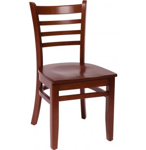 Burlington Wooden Library Chair - Wood Seat