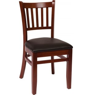Delran Wooden Library Chair - Vinyl Seat