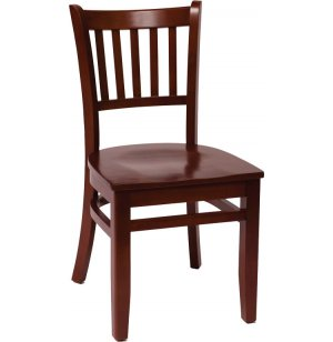 Delran Wooden Library Chair - Wood Seat