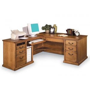 Americana L-Shaped Office Desk w/Left Return