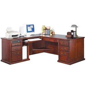 L-Shaped Office Desk w/ Left Return in Cherry