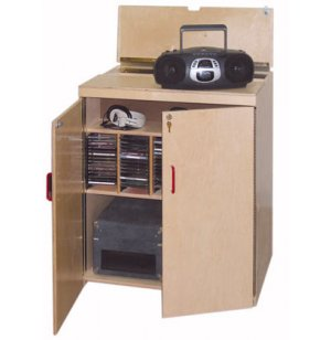 Lock-It-Up Mobile Classroom Audio Listening Center