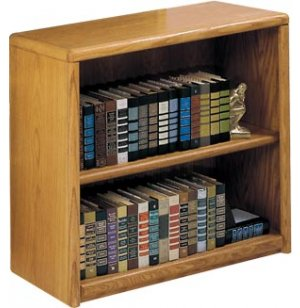 Contemporary Oak Veneer Bookcase