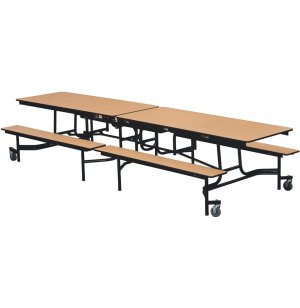Mobile Cafeteria Table- PermaTuff Edge, Chrome Frame, 121