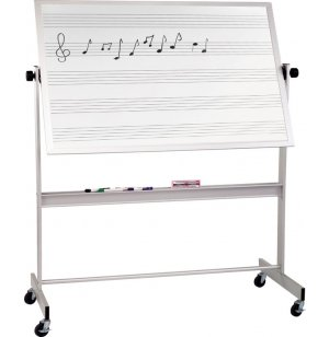 Mobile Porcelain Music Board Two Sides Alum Frame