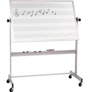 Mobile Porcelain Music and Cork Board Alum Frame