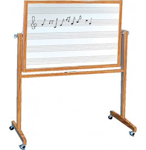 Reversible Porcelain Music Board Two Sides