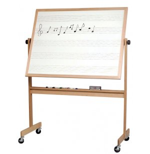 Reversible Porcelain Music Board and Cork Board
