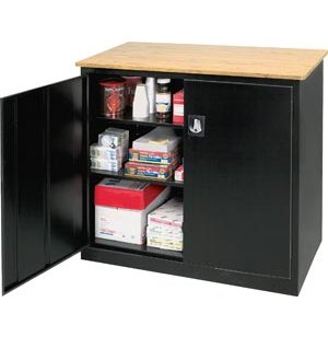 Extra Wide Counter Ht Storage with Top