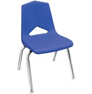 Poly Stacking Classroom Chair with Chrome Frame