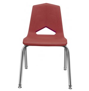 Marco Stackable Poly Classroom Chair - Chrome
