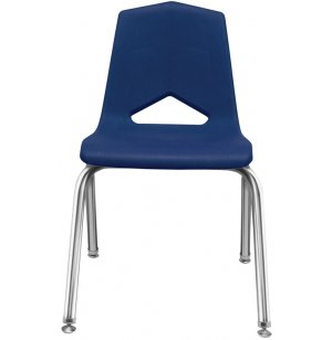 Stackable Poly Classroom Chair - Chrome
