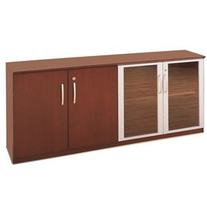 Veneer Low Wall Cabinet with Doors