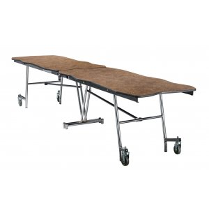 Bedrock Cafeteria Table - 8', Plywood, Chrome