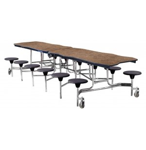 NPS Bedrock Cafeteria Stool Table -10', Plywood