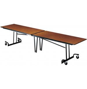 Mitchell Cafeteria Table 121in Top with Black Legs