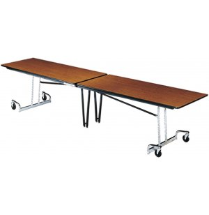 Mobile Folding Cafeteria Table - Chrome Legs