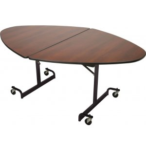 Mitchell Cafe Table 48x72 Oval Top Black Legs