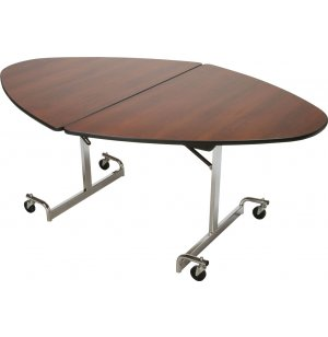 MIT Mobile Oval Cafeteria Table - Chrome Legs