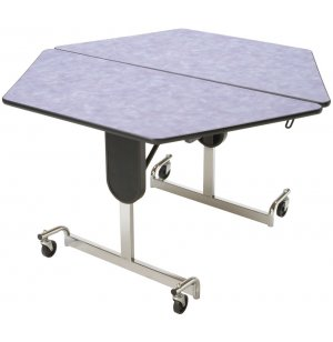 Adj. Height Hexagon Cafeteria Table - Chrome