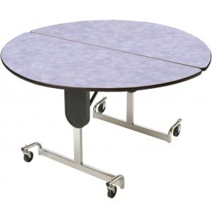 MIT Adj. Height Round Cafeteria Table - Chrome