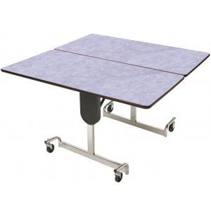 MIT Adj. Height Square Cafeteria Table - Chrome