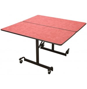 Mobile Square Cafeteria Table - Black Legs