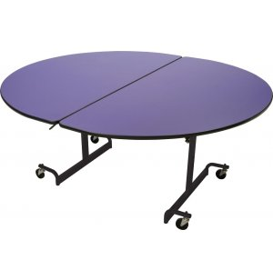 Mobile Oval Cafeteria Table - Black Legs