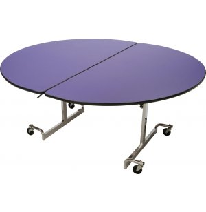 Mobile Oval Cafeteria Table - Chrome Legs