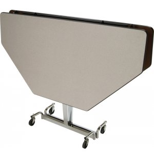 MIT Adj. Height Octogon Cafeteria Table - Chrome