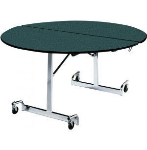 Mobile Round Cafeteria Table - Chrome