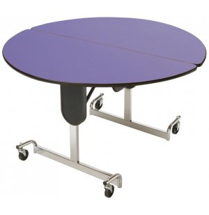 Mitchell Adj Ht Cafe Table 60in dia Top Chrome Legs