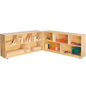 Solid Maple Folding Classroom Cubby Storage