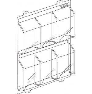 6 Magazine Display Rack 2 Rows of 3