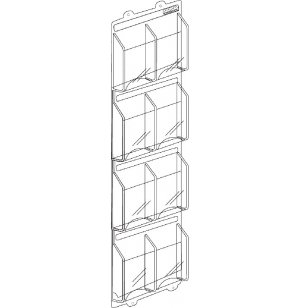 8 Magazine Display Rack